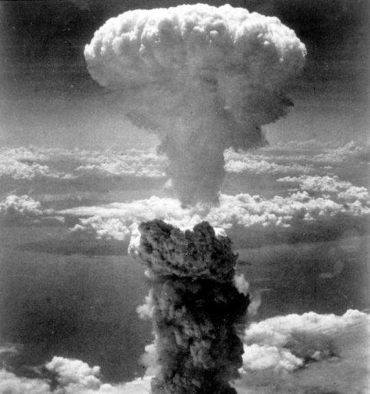 Mushroom cloud over Hiroshima, Japan, August 6th, 1945