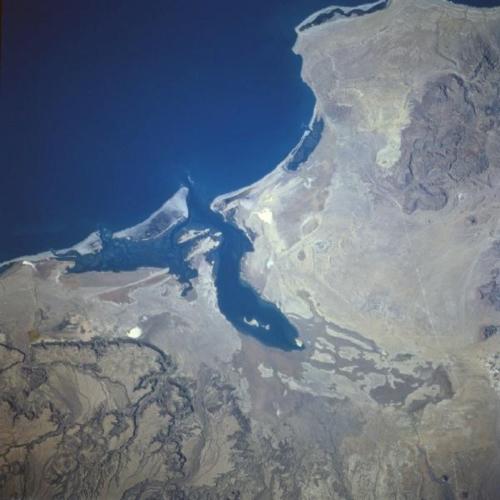 Laguna San Ignacio from space