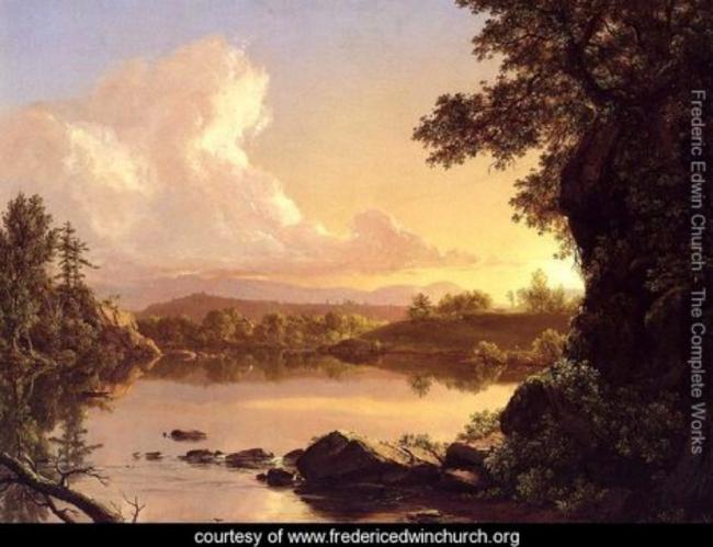 Scene on the Catskill Creek. F.E. Church. 1847.