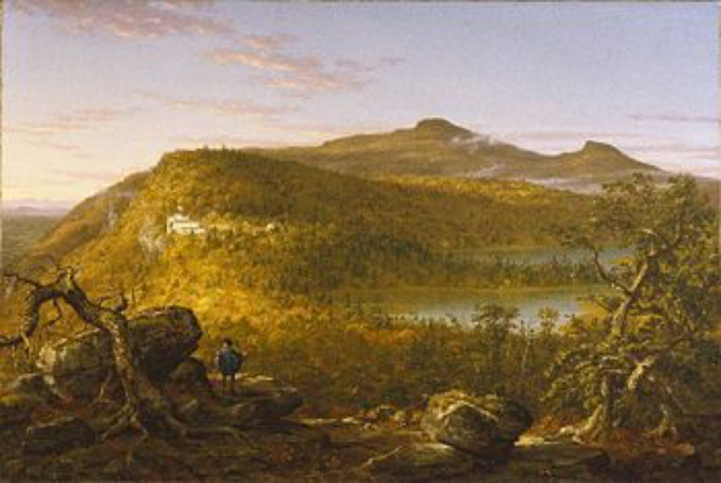 A View of the Two Lakes and Mountain House, Catskill Mountains Morning. Thomas Cole. 1844.