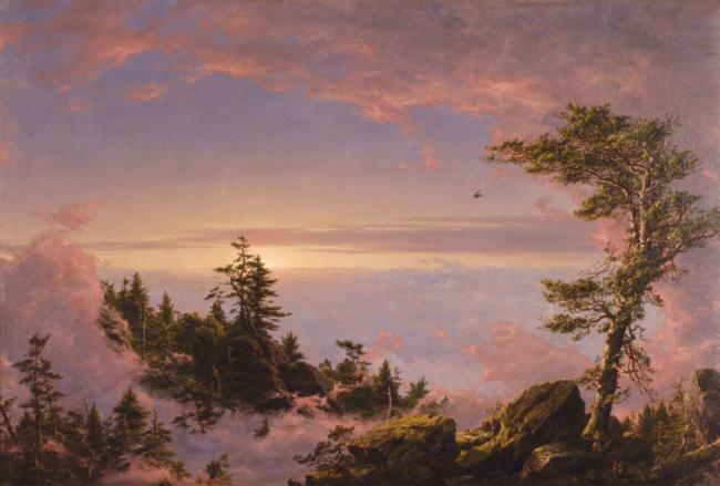 Above the Clouds at Sunrise. F.E. Church. 1849.