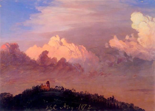 Clouds over Olana. F.E. Church. 1872.