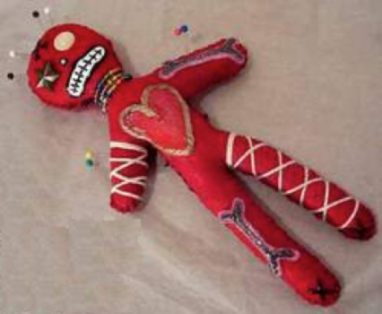 "A ""voodoo"" doll"