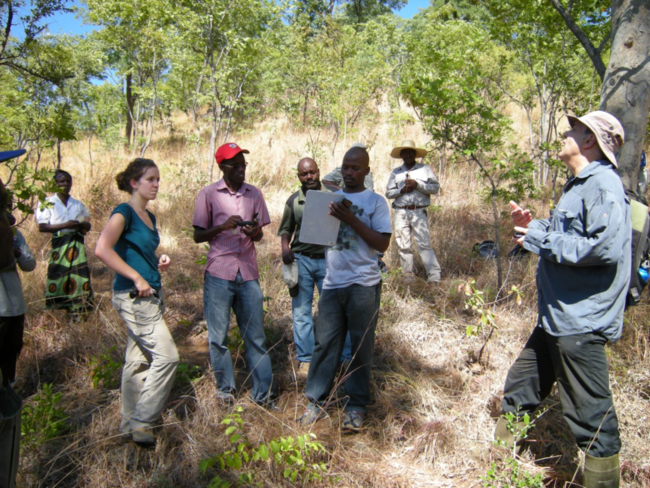 Rapid botanical survey team getting organized