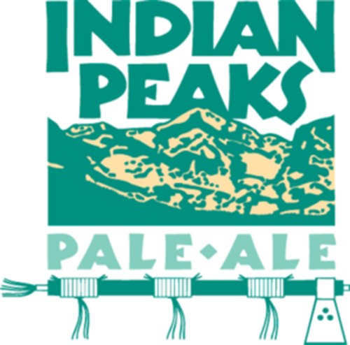 Logo for Indian Peaks Pale Ale, Walnut Brewery, Boulder, Colorado