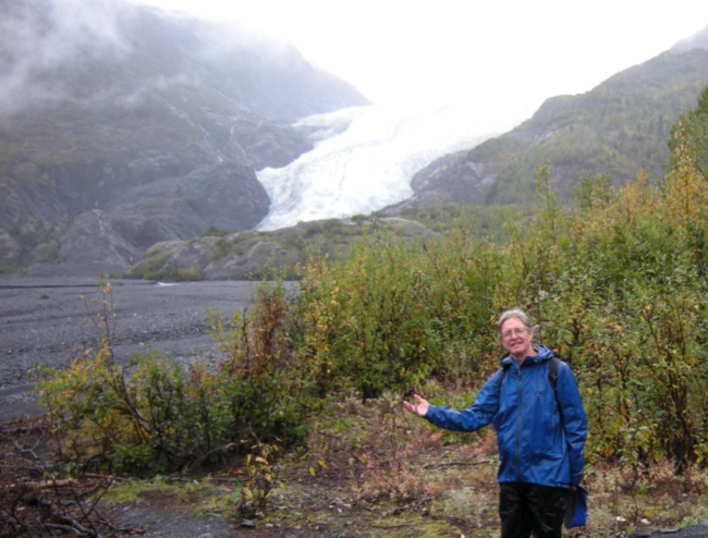 Standing in President Obama's footsteps, Exit Glacier, 10 September 2015 Photo by J. Byers