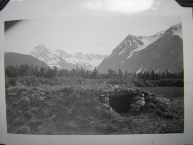 Resurrection Bay gun emplacement, April 1942