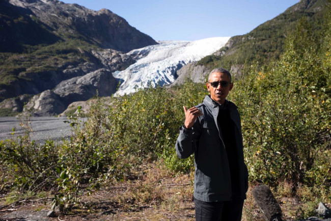 President Obama at Exit Glacier, 1 September 2015