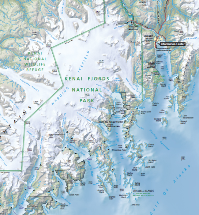 Map of Kenai Fjords