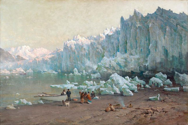Muir Glacier, Alaska. Painting by Thomas Hill 1887-88. Oakland Museum of Art.