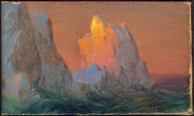 Icebergs. Frederic Edwin Church. 1863. Museum of Fine Arts, Boston.