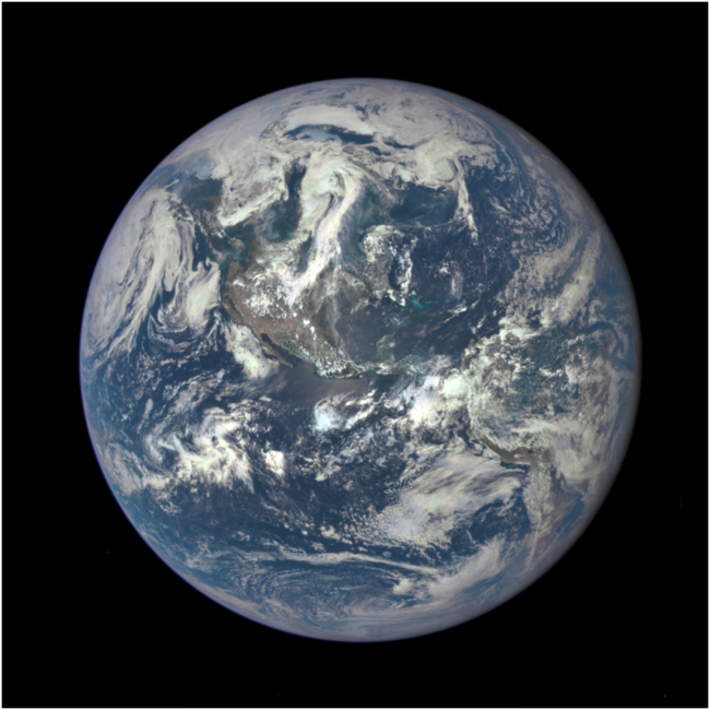 Spaceship Earth as seen on July 6, 2015 from a distance of one million miles by a NASA scientific camera aboard the Deep Space Climate Observatory spacecraft.