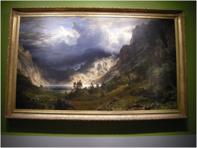 """A Storm in the Rocky Mountains, Mt. Rosalie,"" 1866, Albert Bierstadt"