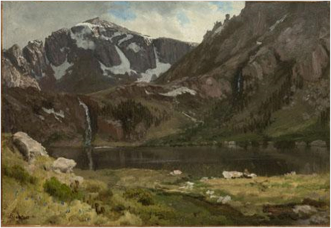 """Mountain Lake,"" Albert Bierstadt, 1863. Image courtesy of the Denver Art Museum"