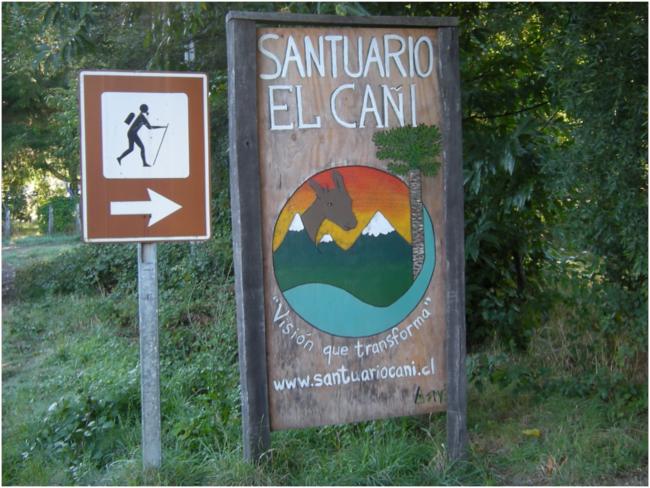 Trailhead at Sanctuario El Cañi