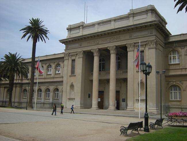 Museo de Historia Natural, Santiago, built in 1876, where Albert began his work in Chile in 1889