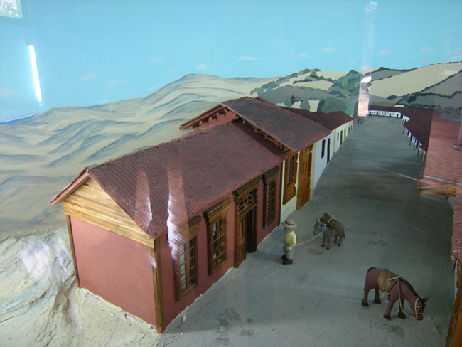 Chanco and the sand dunes: diorama at the visitor center of the Reserva Nacional Federico Albert