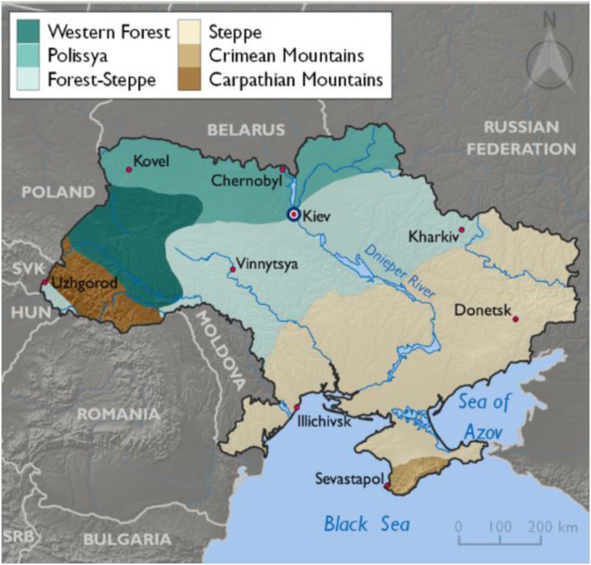 Ecological regions of Ukraine