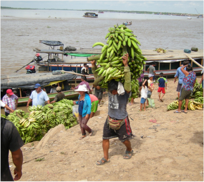 Waterfront market on the Río Ucayali, Pucallpa