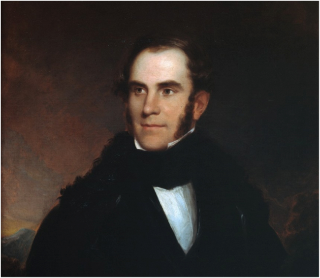 Portrait of Thomas Cole by Asher B. Durand, 1837. Courtesy of Thomas Cole National Historic Site.