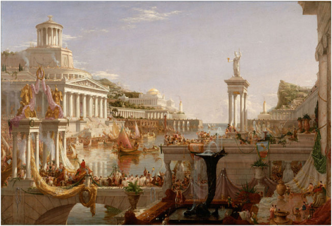 The Course of Empire: The Consummation of Empire. Thomas Cole, 1835-1836.