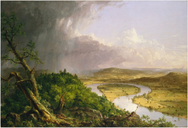View from Mount Holyoke, Northampton, Massachusetts, after a Thunderstorm—The Oxbow. 1836. The Metropolitan Museum of Art.