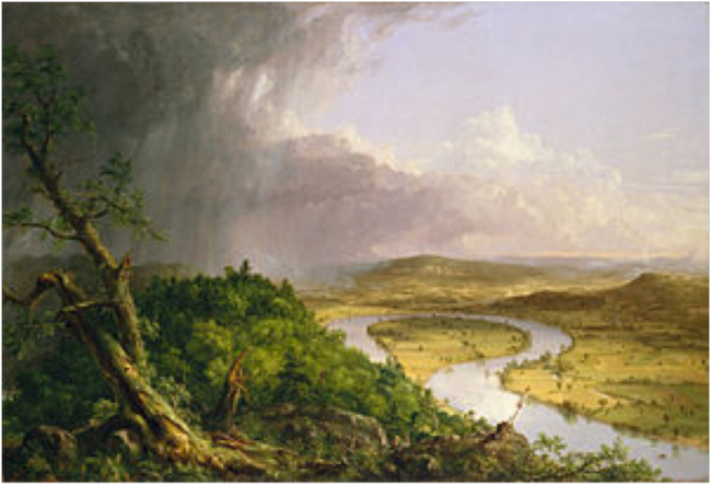 View from Mount Holyoke, Northampton, Massachusetts, after a Thunderstorm—The Oxbow (1836). The Metropolitan Museum of Art, New York, NY.