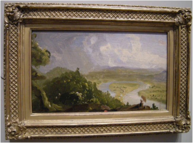 View from Mount Holyoke, Northampton, Massachusetts, after a Thunderstorm – The Oxbow (1836).