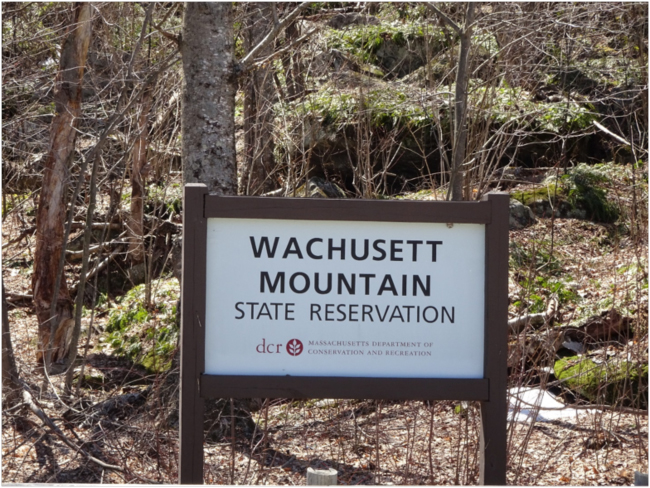 Entrance sign, Wachusett Mountain State Reservation
