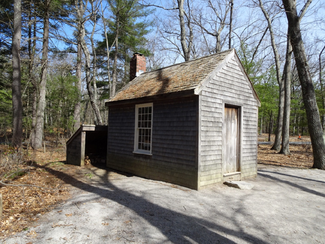 Replica of Thoreau's house at Walden Pond State Reservation (not at the original house site)