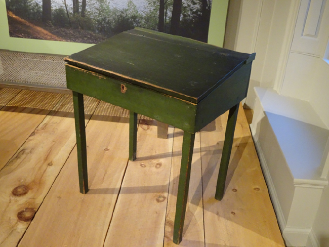 Henry Thoreau's writing desk displayed in the Concord Museum