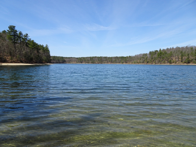 Walden Pond from its east shore, 24 April 2018