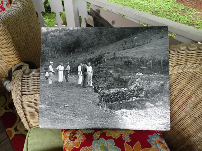 Historic photo of the Coon Valley Project at the Lee Farm gazebo, 22 June 2018.