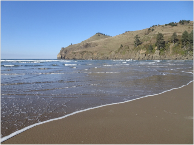 Cascade Head viewed from Westwind Beach