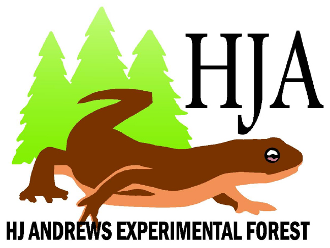 Andrews Forest logo with rough-skinned newt