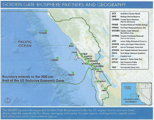 Source: Golden Gate Biosphere Reserve Fact Sheet