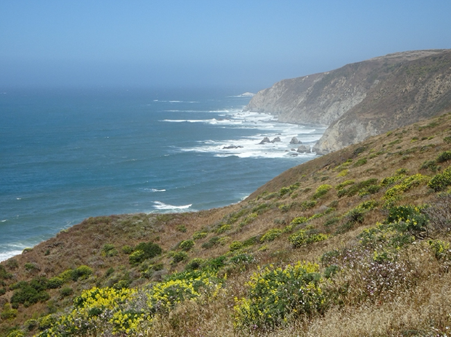 Western cliffs of Tomales Point and the Pacific Ocean, Point Reyes National Seashore