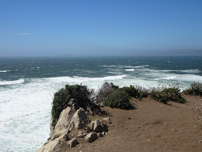 Tomales Point, looking north along the San Andreas Fault toward Bodega Head