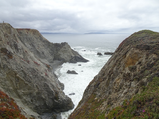 Looking south along the San Andreas Fault to Point Reyes from Bodega Head