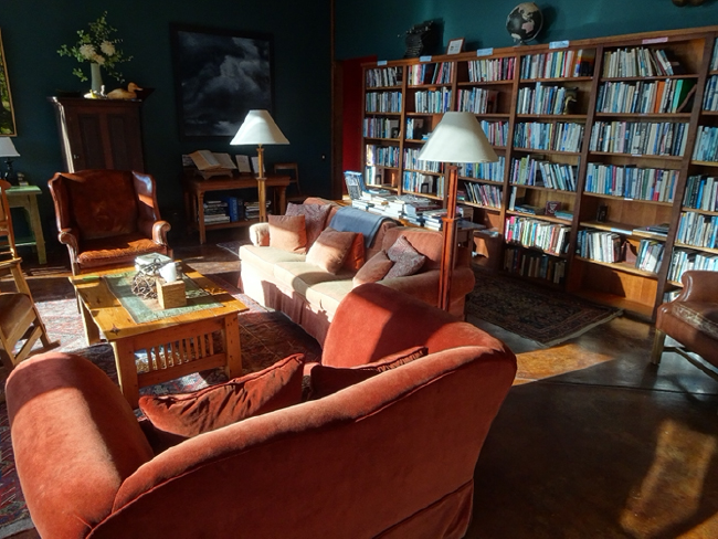 The Gathering Room and library, late afternoon
